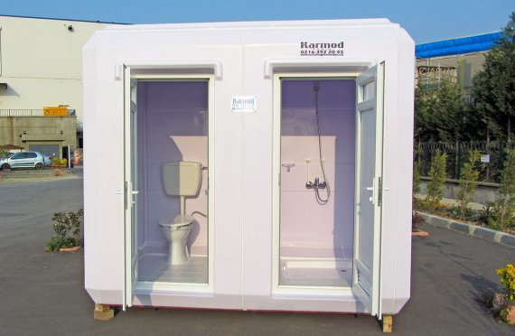 150x270 Przenośna toaleta z kabiną prysznicową