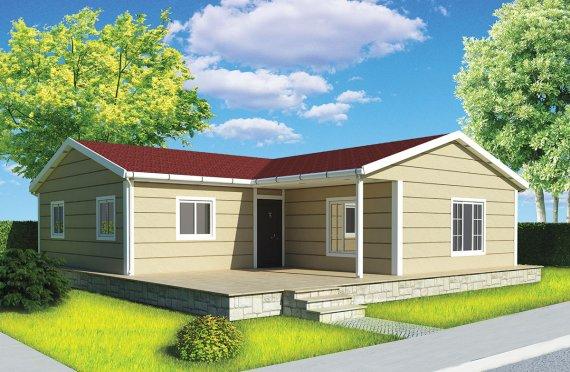 Dom z prefabrykatów 107 m²