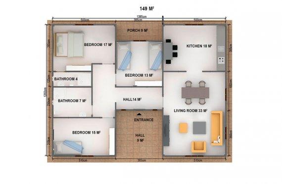 Dom z prefabrykatów 149 m²