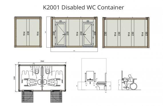 K 2001 Kontener WC dla niepełnosprawnych