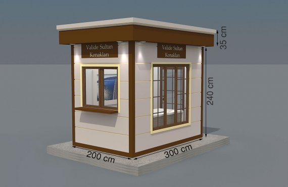Nowoczesna kabina z prefabrykatów 200x300
