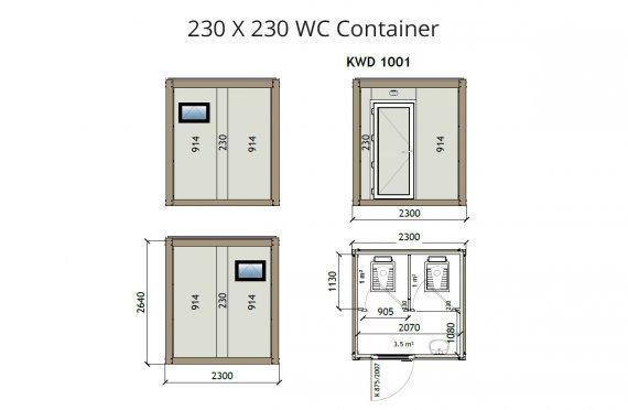 KW2 230X230 Kontener WC