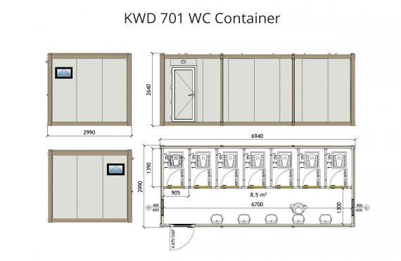 kwd-701 Kontener WC
