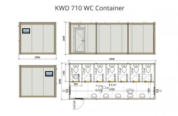 KWD 710 Kontener WC
