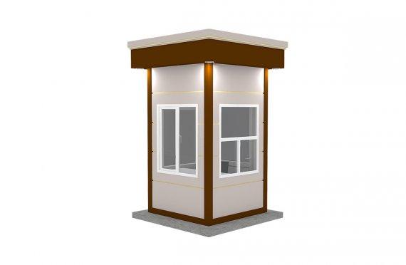 Nowoczesny kiosk z prefabrykatów 150x150