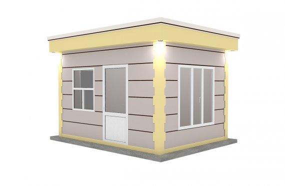 Nowoczesna kabina z prefabrykatów 300x400