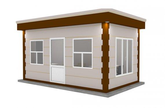 Nowoczesna kabina z prefabrykatów 300x500