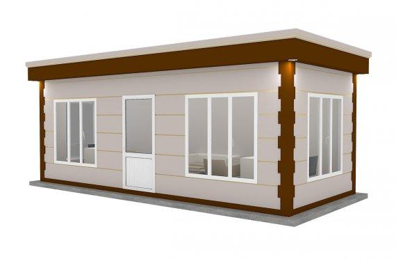 Nowoczena kabina z prefabrykatów 300x700