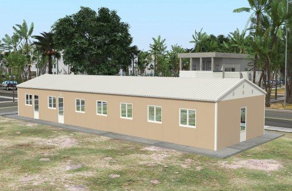 Prefabrykowana komercyjna kuchnia 139 m²