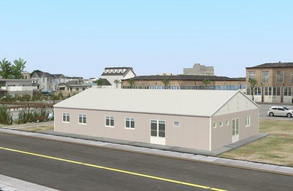 Prefabrykowana komercyjna kuchnia 217 m²