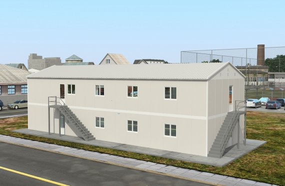 Prefabrykowana komercyjna kuchnia 332 m²