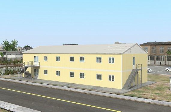Prefabrykowana komercyjna kuchnia 576 m²