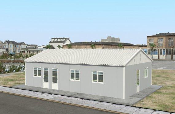 Prefabrykowana komercyjna kuchnia 89 m²