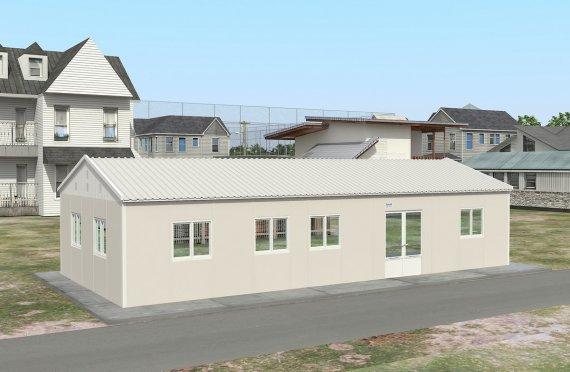 Prefabrykowana komercyjna kuchnia 98 m²