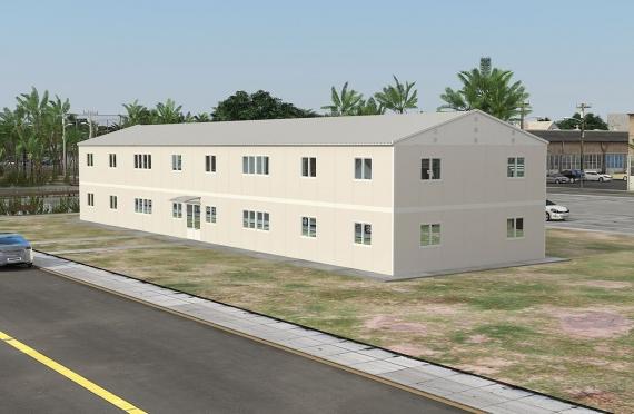 Modułowy budynek biurowy 588 m²