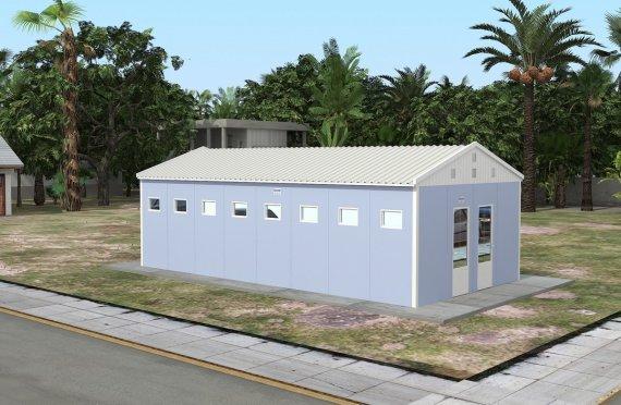 Prefabrykowany budynek toalety z prysznicem 52 m²