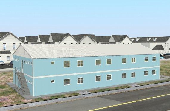 Modułowa jednostka noclegowa 736 m²