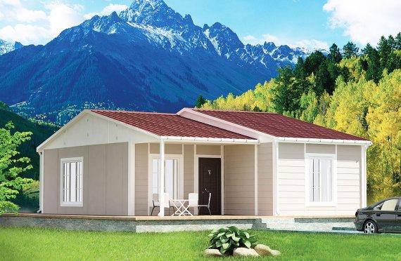 Dom z prefabrykatów 61 m²