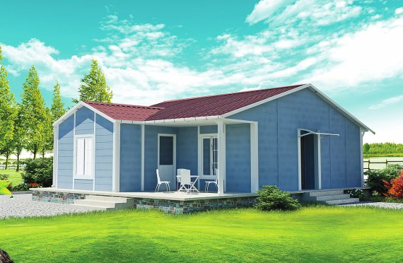 Dom z prefabrykatów 73 m²