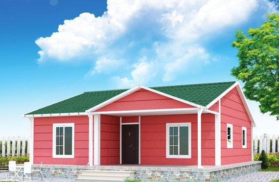 Dom z prefabrykatów 82 m²