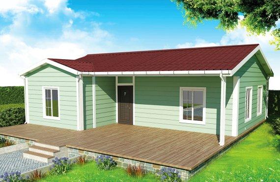 Dom z prefabrykatów 86 m²