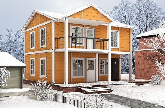 Prefabrykowany dom  112 m²