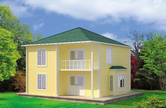 Prefabrykowany dom 124 m²