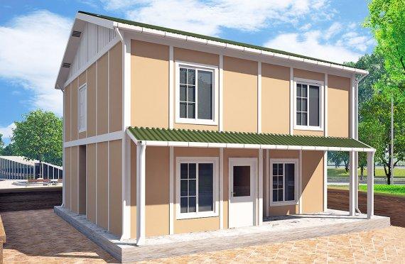 Prefabrykowany dom 127 m²