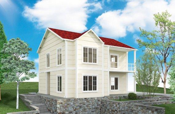 Prefabrykowany dom 132 m²