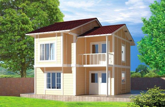 Prefabrykowany dom 91 m²