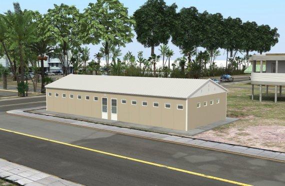 Prefabrykowany budynek WC z prysznicem o powierzchni 145 m²