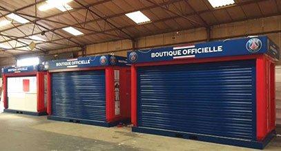 Karmod wyprodukował kioski handlowe dla PSG