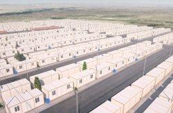 Miasto kontenerowe obozu dla uchodźców